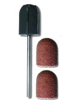 Čepičkové brusky hnědé, hrubé, zrnitost 60, velikost 5, 7, 13, 16 mm